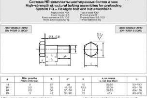 High-strength structural bolting assemblies for preloading,  GOST 32484.3-2014
