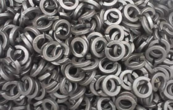 One turn washers for railway track
